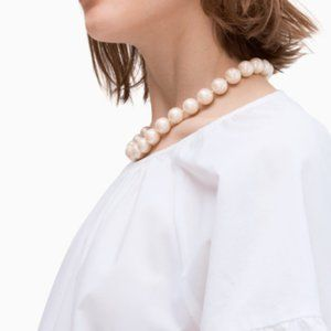 NWT KATE SPADE ALL WRAPPED BOW PEARL NECKLACE